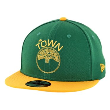 New Era 9Fifty Golden State Warriors The Town Snapback Hat Kelly Green Gold