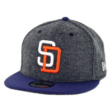 New Era 9Fifty San Diego Padres 1991 Pattern Pop Snapback Hat Heather Graphite Navy