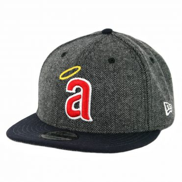 "New Era 9Fifty California Angels ""a"" 1971 Pattern Pop Snapback Hat Heather Graphite Dark Navy"
