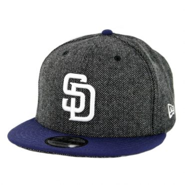 New Era 9Fifty San Diego Padres Pattern Pop Snapback Hat Heather Graphite Navy