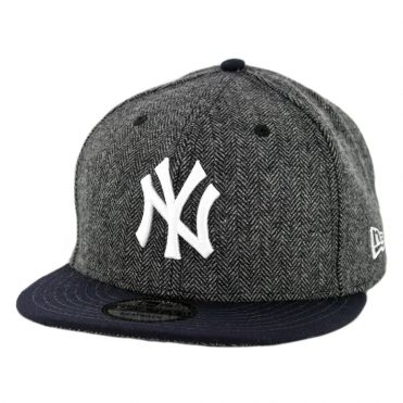 New Era 9Fifty New York Yankees Pattern Pop Snapback Hat Heather Graphite Dark Navy