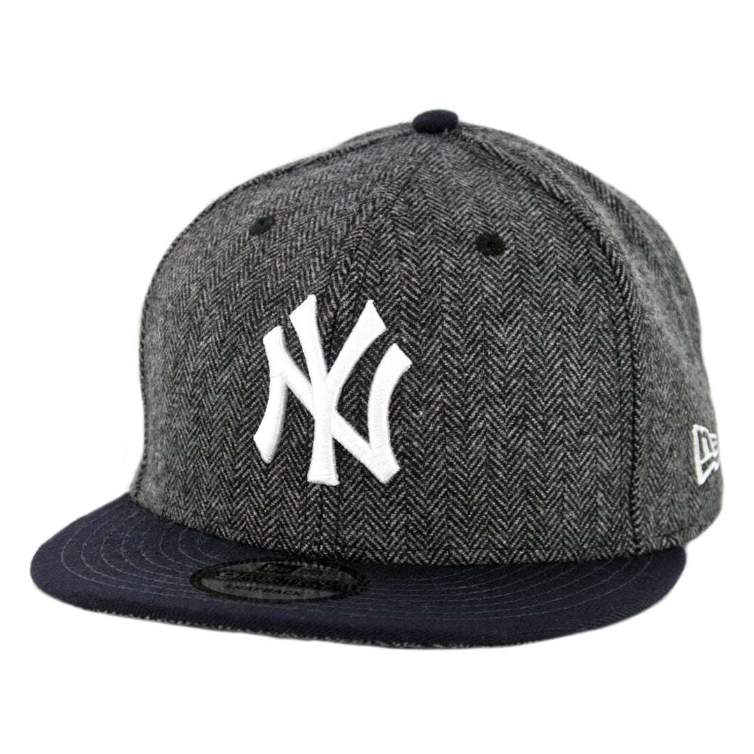 748dd9a5b0d New Era 9Fifty New York Yankees Pattern Pop Snapback Hat Heather Graphite Dark  Navy - Billion Creation Streetwear