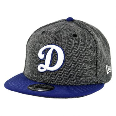 "New Era 9Fifty Los Angeles Dodgers ""D"" Pattern Pop Snapback Hat Heather Graphite Dark Royal Blue"