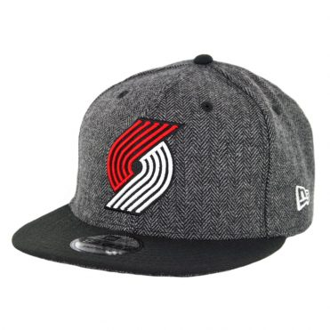 New Era 9Fifty Portland Trailblazers Pattern Pop Snapback Hat Heather Graphite Black