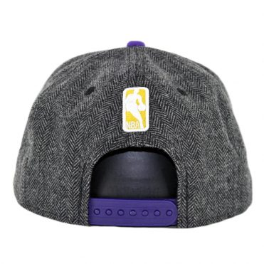 New Era 9Fifty Los Angeles Lakers Pattern Pop Snapback Hat Heather Graphite Purple