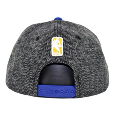 New Era 9Fifty Golden State Warriors Pattern Pop Snapback Hat Heather Graphite Royal Blue
