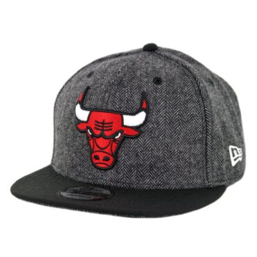 New Era 9Fifty Chicago Bulls Pattern Pop Snapback Hat Heather Graphite Black