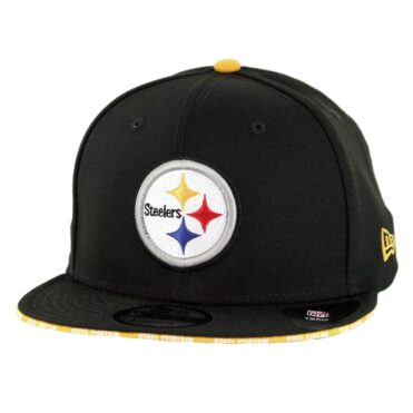 New Era 9Fifty Pittsburgh Steelers Callout Trim Snapback Hat Black