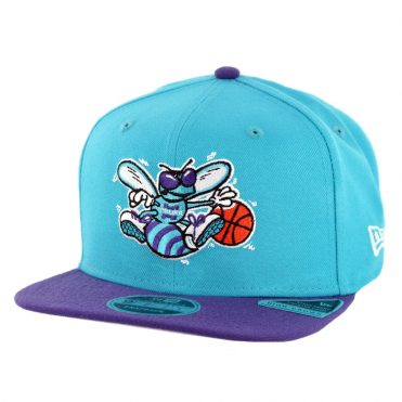 New Era 9Fifty Charlotte Hornets Nights 7 Snapback Hat Teal Purple