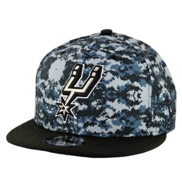 New Era 9Fifty San Antonio Spurs City Series 2018 Snapback Hat Digi Camo Blue