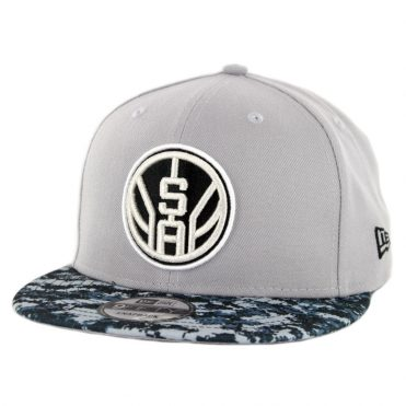 New Era 9Fifty San Antonio Spurs Alternate City Series 2018 Snapback Hat Grey Digi Camo Blue