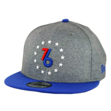 New Era 9Fifty Philadelphia 76ers City Series 2018 Snapback Hat Grey Royal Blue