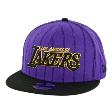 New Era 9Fifty Los Angeles Lakers City Series 2018 Snapback Hat Deep Purple Black