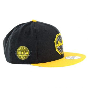 New Era 9Fifty Golden State Warriors City Series 2018 Snapback Hat Black Yellow
