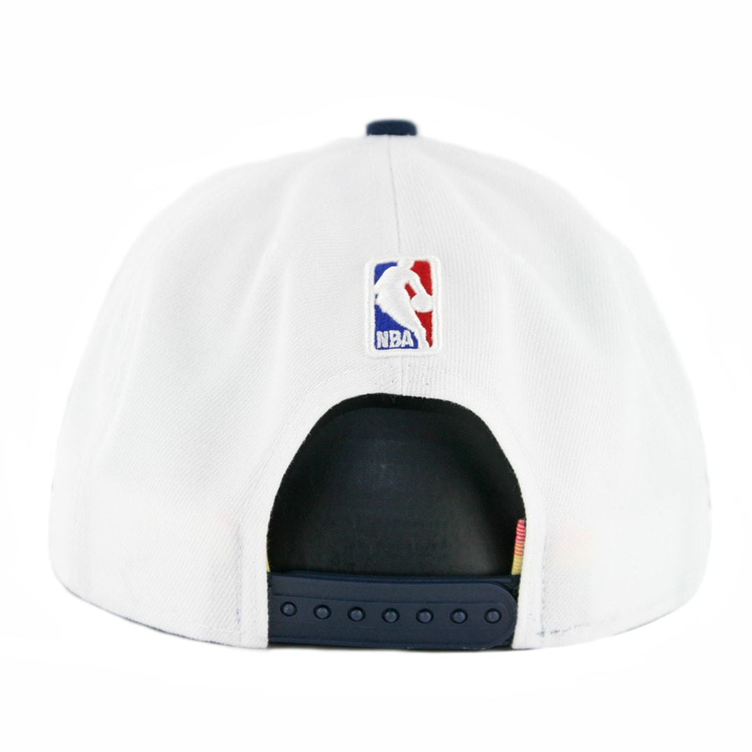 d7994576340894 New Era 9Fifty Denver Nuggets City Series 2018 Snapback Hat White Dark Navy