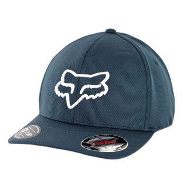 FOX Lithotype Flexfit Hat Navy White