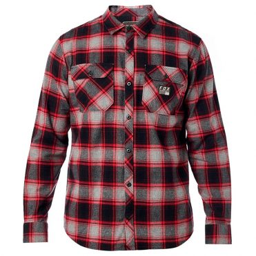 FOX Traildust Flannel Shirt Grey Red