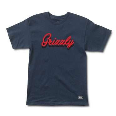 Grizzly Cursive T-Shirt Navy