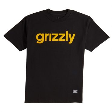 Grizzly Lowercase T-Shirt Black Yellow