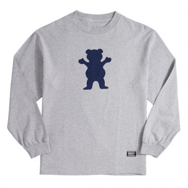 Grizzly OG Bear Long Sleeve T-Shirt Grey Heather