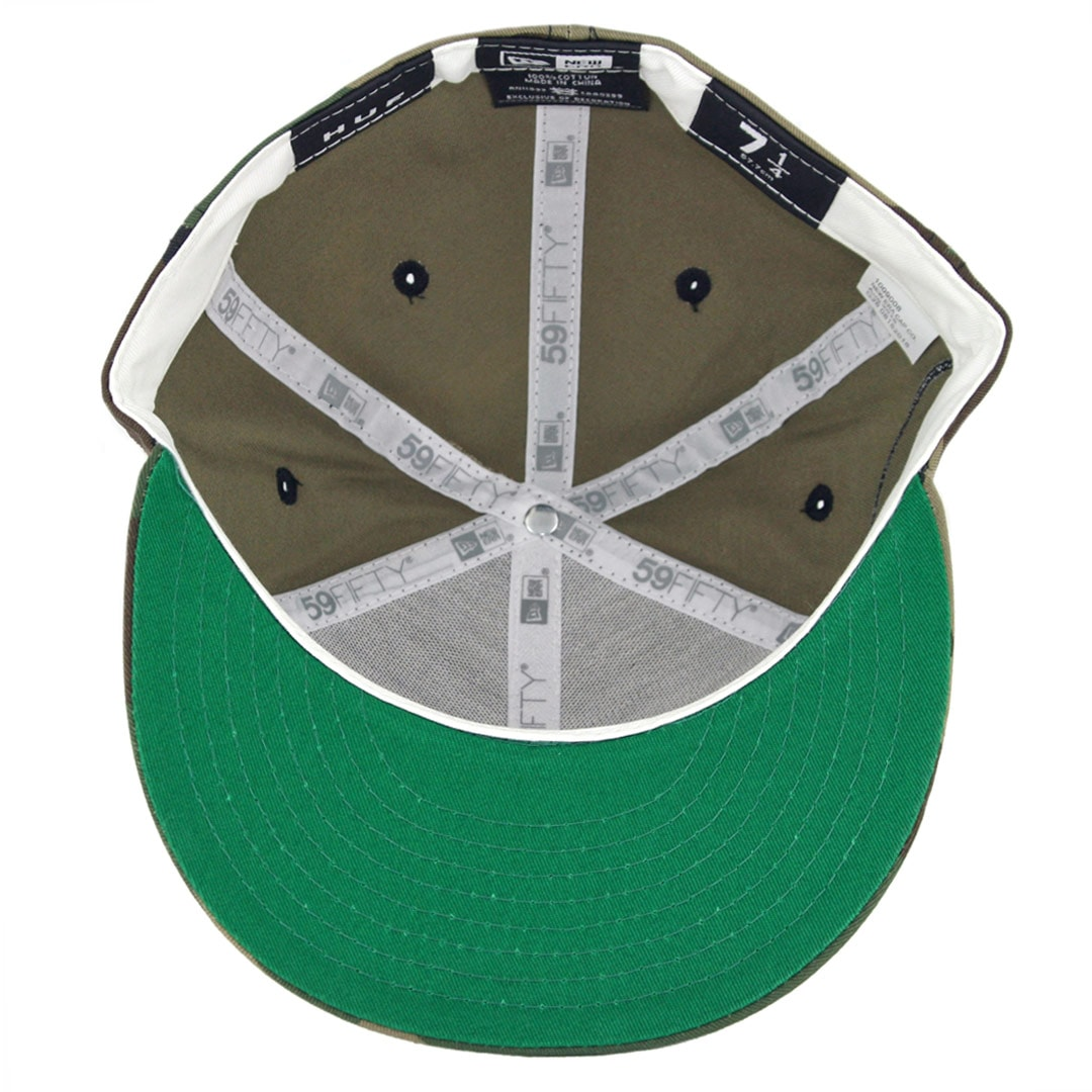 383d7b27631 HUF Classic H New Era 59Fifty Fitted Hat Woodland Camo - Billion ...