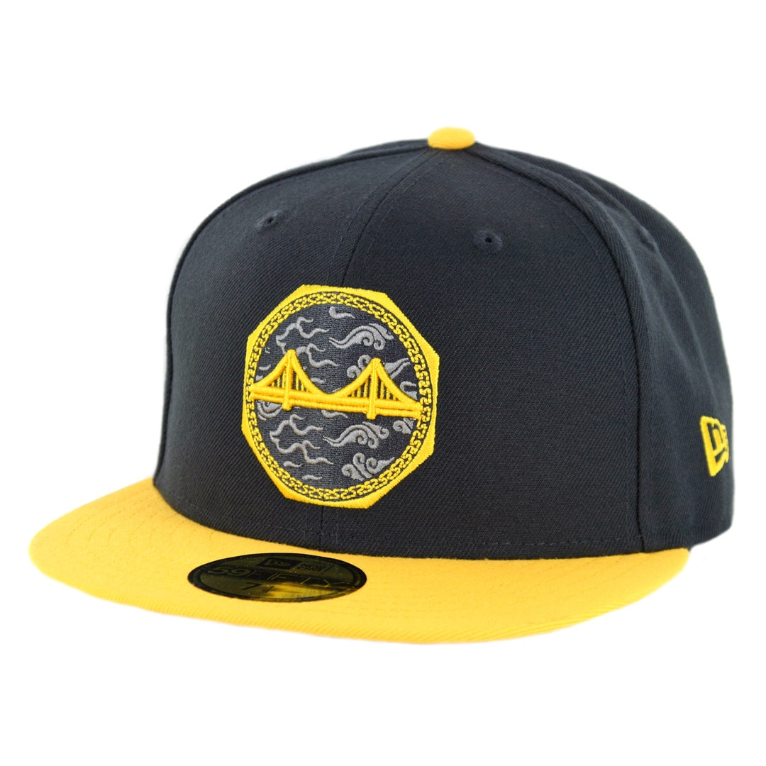 san francisco 5fa9d ce9c9 ... discount new era 59fifty golden state warriors city series 2018 fitted hat  black yellow d35ba e632e