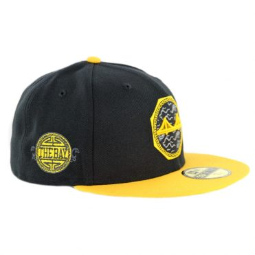 New Era 59Fifty Golden State Warriors City Series 2018 Fitted Hat Black Yellow