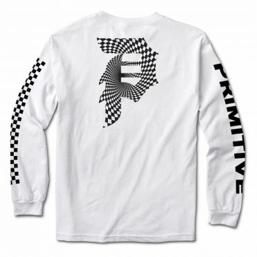 Primitive Dirty P Warp Long Sleeve T-Shirt White