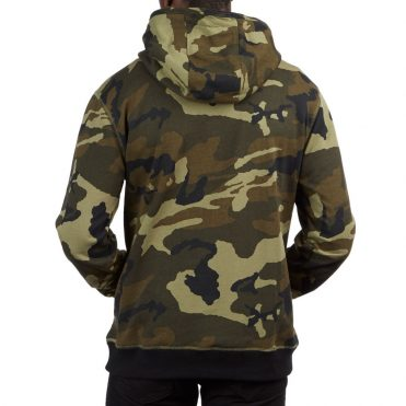 Primitive Nuevo Contrast Hooded Sweatshirt Woodland Camo