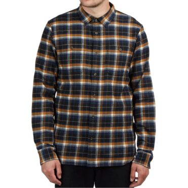 Vans Banfield III Flannel Shirt Black Rubber