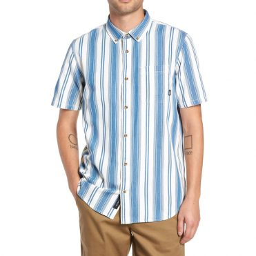 Vans Linden Short Sleeve Button Up Shirt Indigo