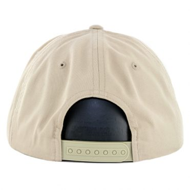 Hard Luck Circle Patch Snapback Hat Khaki
