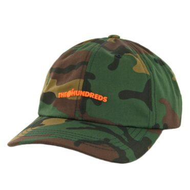 The Hundreds Bar Dad Strapback Hat Camo