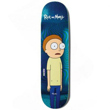 Primitive x Rick & Morty Ribeiro Morty Skateboard Deck Blue