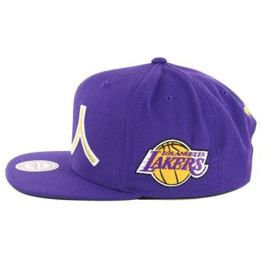 Mitchell & Ness Los Angeles Lakers Chinese New Year 2019 Snapback Hat Purple