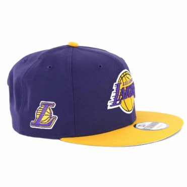 New Era 9Fifty Los Angeles Lakers TC 2 T Link Snapback Purple Gold