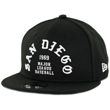 New Era 9Fifty San Diego Padres Team Deluxe II Snapback Hat Black