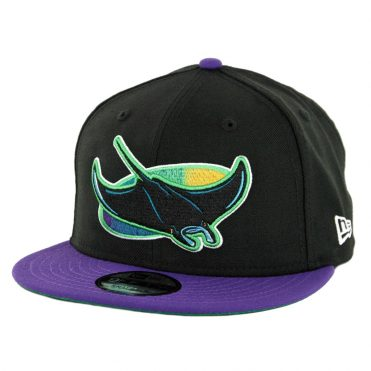 New Era 9Fifty Tampa Bay Rays Cooperstown Logo Pack Snapback Hat Black