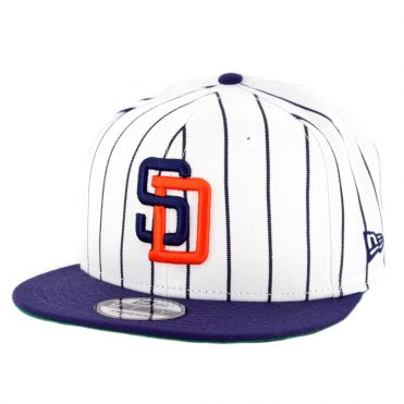 New Era 9Fifty San Diego Padres Cooperstown Logo Pack Snapback Hat White