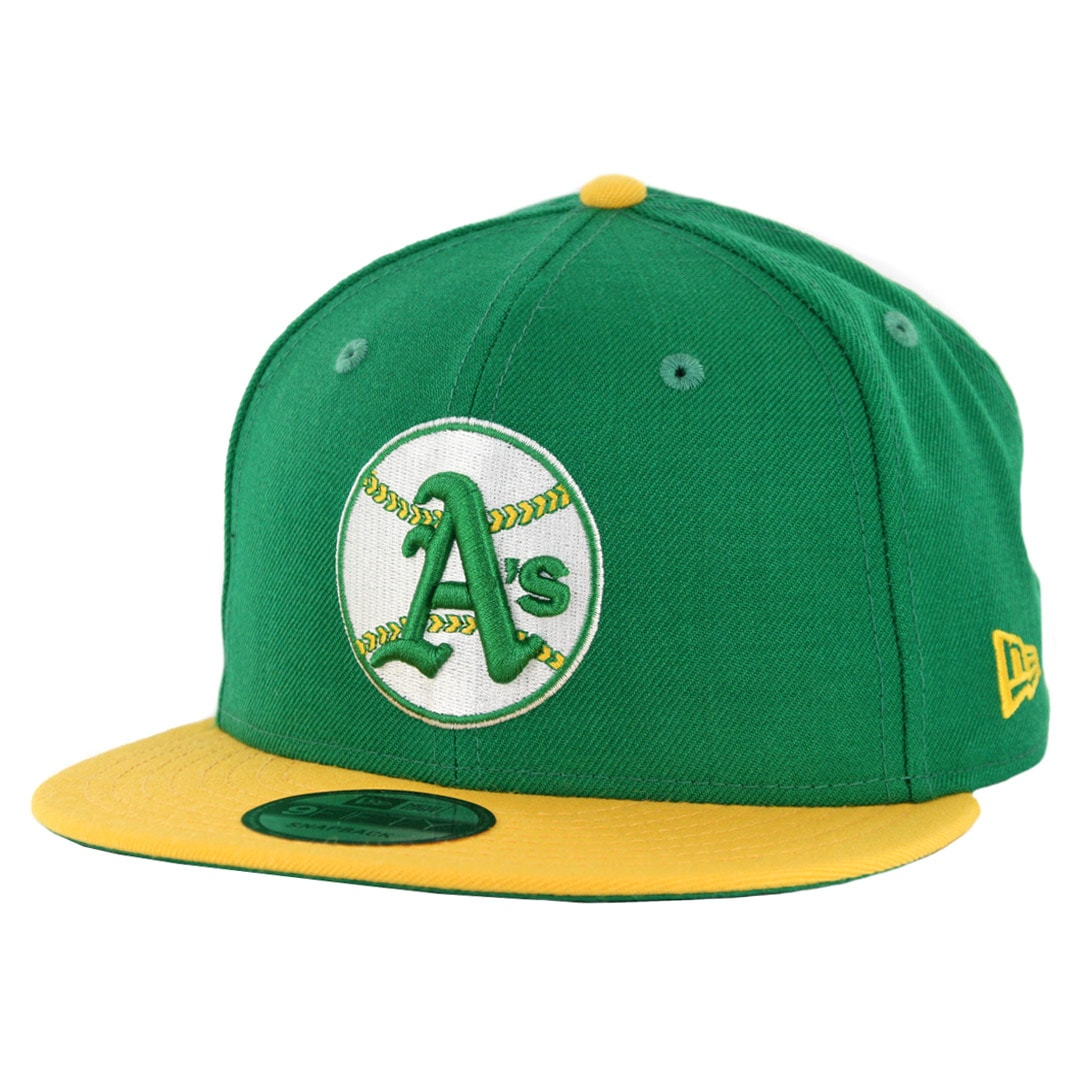new styles a1a9c 49293 New Era 9Fifty Oakland Athletics Cooperstown Logo Pack Snapback Hat Kelly  Green