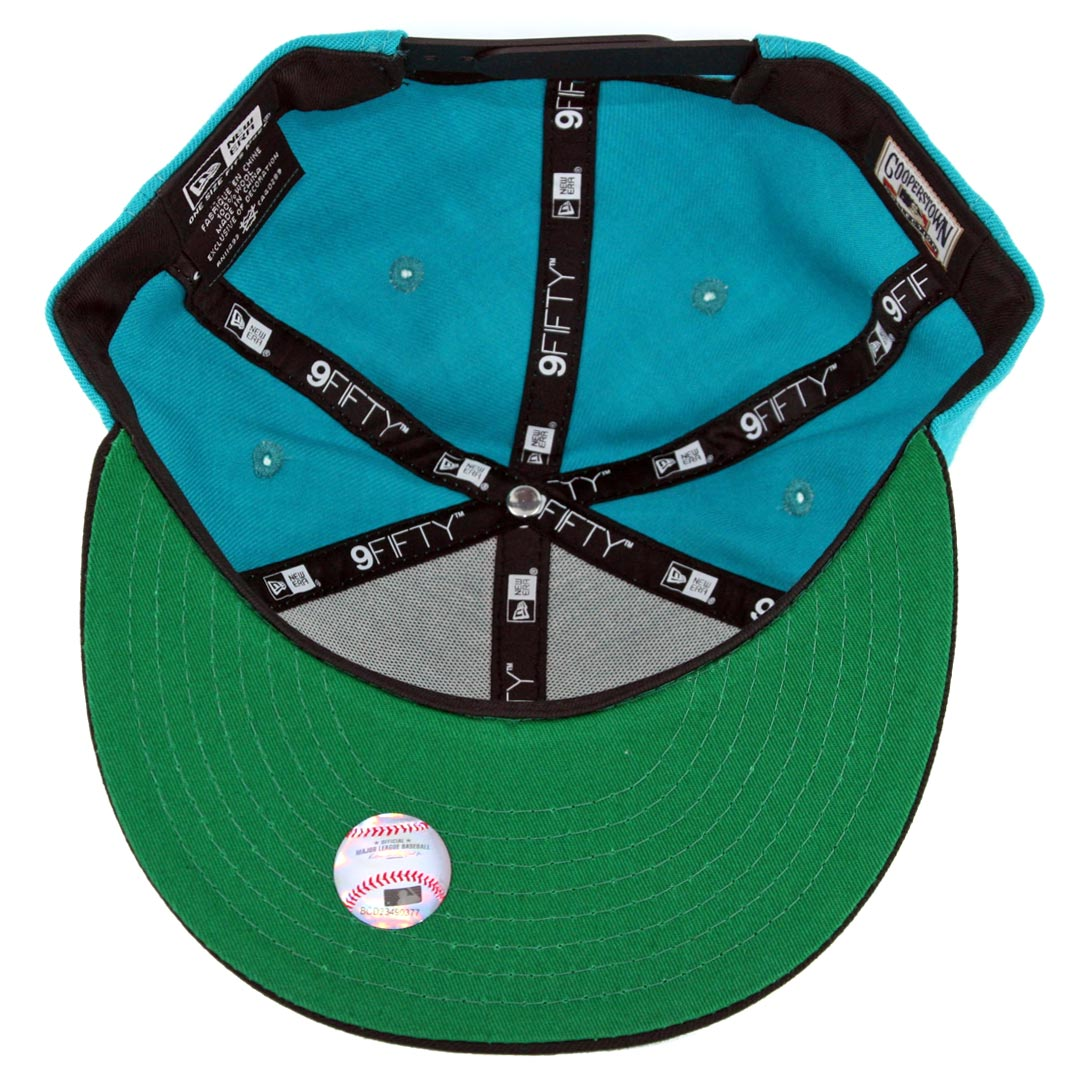 pretty nice d0994 65acb New Era 9Fifty Florida Marlins Cooperstown Logo Pack Snapback Hat Teal. 🔍.   30.00