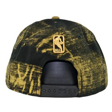New Era 9Fifty Golden State Warriors Painted Prime Snapback Hat Black Gold