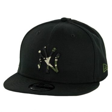 430d712d745 New Era 9Fifty New York Yankees Camo Hit Strapback Hat Black Woodland Camo  ...