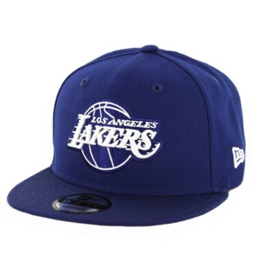 New Era 9Fifty Los Angeles Lakers Snapback Hat Dark Royal
