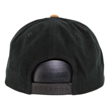 Volcom Quarter Fabric Snapback Hat Charred