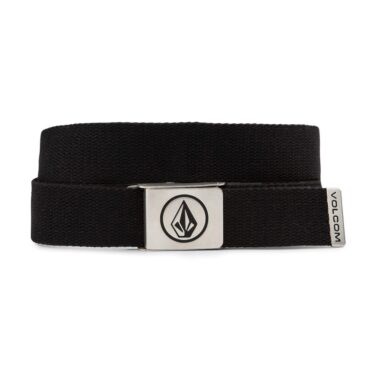 Volcom Circle Web Belt Stoney Black