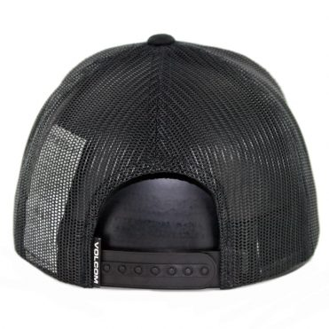 Volcom Full Stone Cheese Snapback Hat New Black