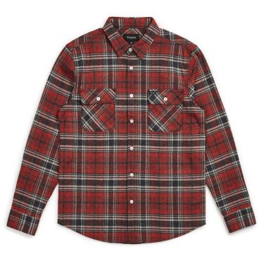 Brixton Bowery Long Sleeve Flannel Shirt Brick Steel