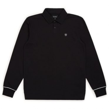 Brixton Carlos Long Sleeve Polo Shirt Black
