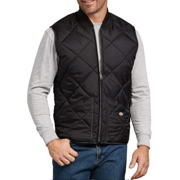 Dickies TE242 Diamond Quilted Nylon Vest Black